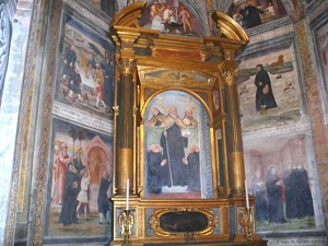 San Mauro - Affresco in Basilica
